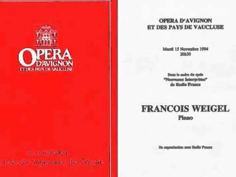 François Weigel : complete recital on France Musique (1994)