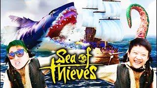 SEA OF THIEVES ĐỤT #2: BỊ QUÁI VẬT KRAKEN, MEGALODON TẤN CÔNG !!! Team Đụt chiếm đảo đầu lâu =))))