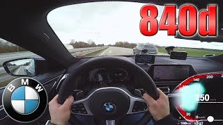0-250 km/h   BMW 840d xDrive   POV- TOP SPEED TEST ✔