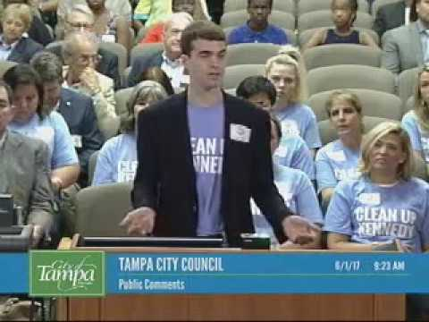 Joe Manson Speaks at the June 1st Tampa CIty Council Meeting