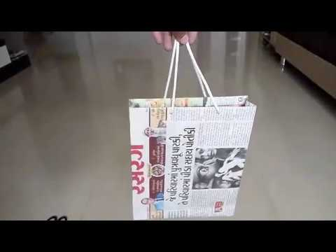 How to make bag  ll newspaper crafts ll Newspaper bag ll best out of Waste