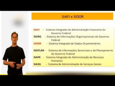 AFO para concursos públicos - SIAFI e SIDOR