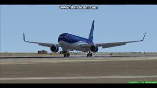 Azerbaijan Airlines B767 Baku Heydar Aliyev International Airport UBBB Landing FS9