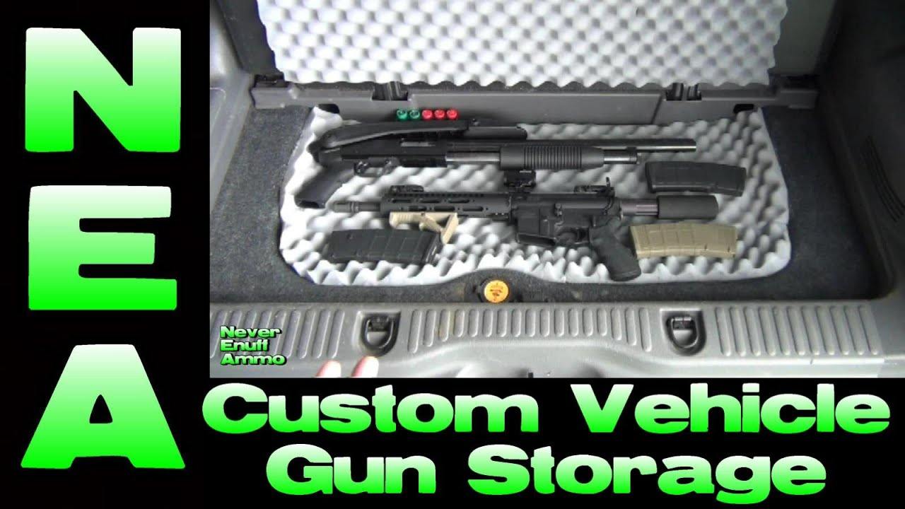 Custom Vehicle Gun Storage - DIY Install - YouTube