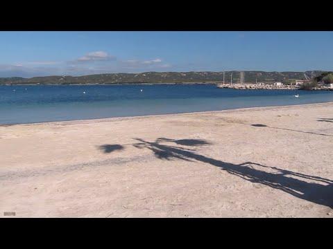 La plage de Champigny sur l'etang de Berre