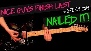 Nice Guys Finish Last - Green Day guitar cover by GV