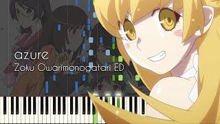 azure - Zoku Owarimonogatari ED - Piano Arrangement [Synthesia]