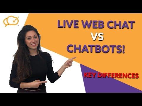 Live Web Chat VS Chatbots: Key Differences!