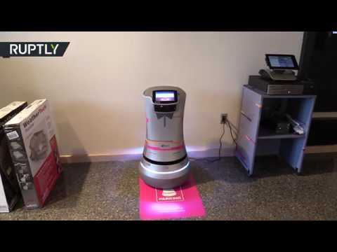 'Botlr' Butler: Silicon Valley hotel shows off own 'R2D2'