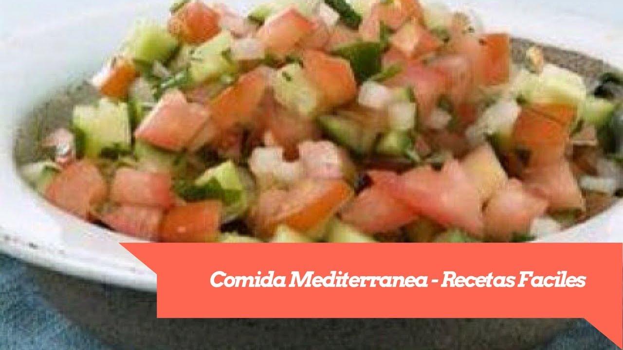 recetas mediterraneas faciles para adelgazar