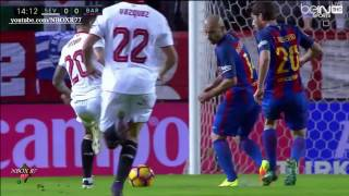 #الجولة_11 مباراة برشلونة واشبيلية 2-1 شاشة كاملة تعليق روؤف خليف 06-11-2016-HD