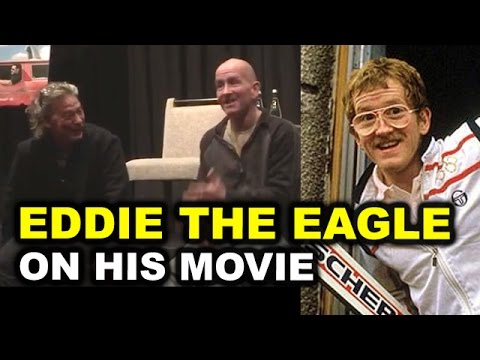 Eddie the Eagle Movie Interview - Eddie Edwards & Dexter Fletcher - Beyond The Trailer