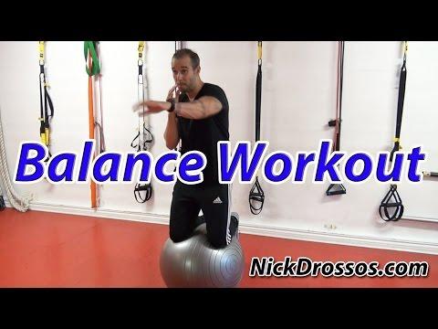 Balance Workout on a Swiss Ball with Nick Drossos