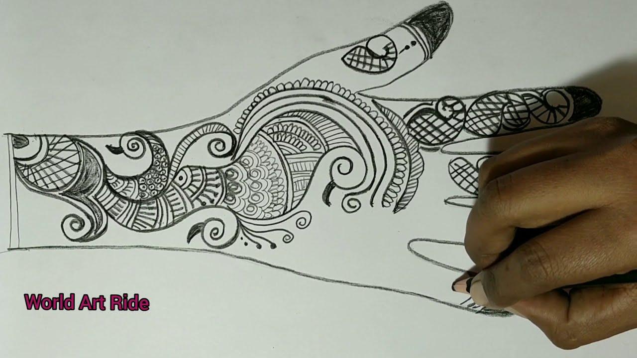 Arabic mehedi pencil design best and easy mehndi designs ...