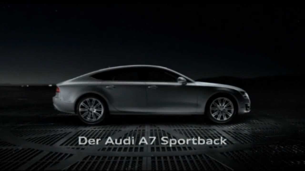 auto werbung der neue audi a7 youtube. Black Bedroom Furniture Sets. Home Design Ideas