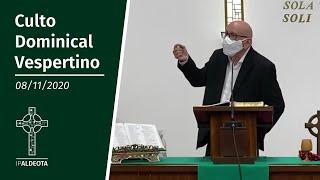 Culto Vespertino (08/11/2020) - Rev. Edenildo Fonteles - Romanos 1. 14-17