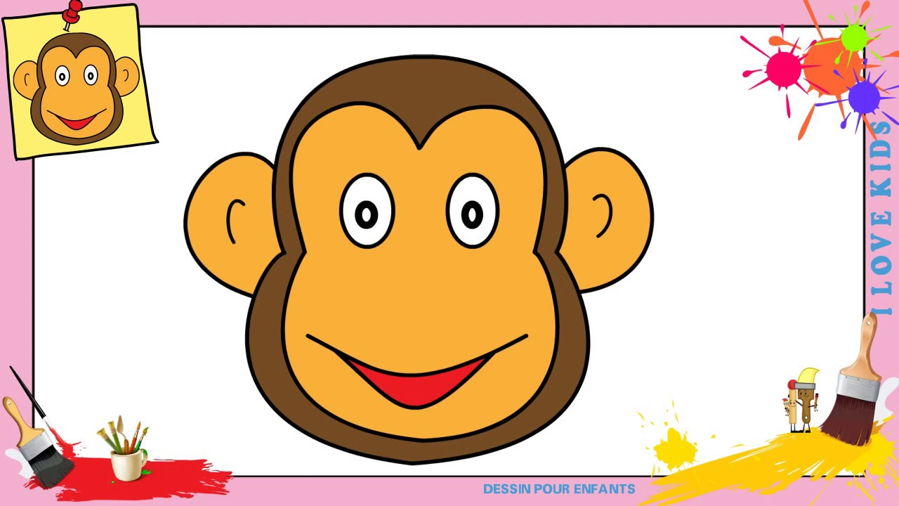 Comment dessiner un singe visage 2 facilement etape par etape youtube - Singe a dessiner ...