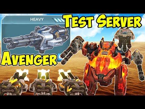 War Robots NEW Heavy Weapon Avenger - Test Server Gameplay WR