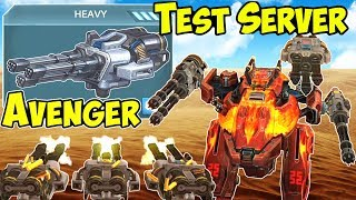 War Robots NEW Heavy Weapon Avenger - Test Server Gameplay WR