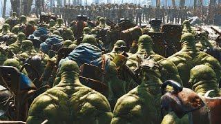 Super Mutant Army VS Raider Army -  Fallout 4 NPC War