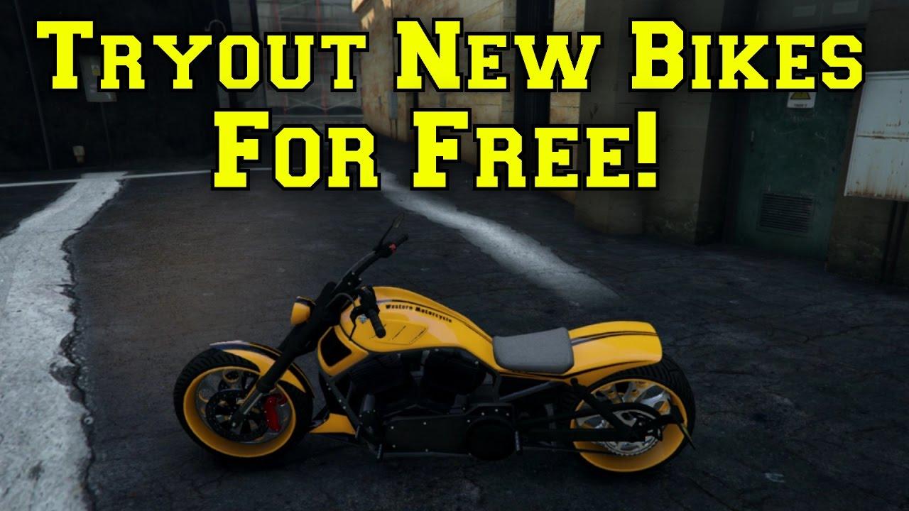GTA 5 TRYOUT NEW BIKES FOR FREE! (GTA 5 ONLINE) - YouTube
