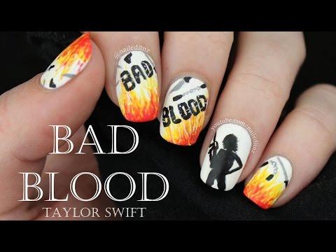 Taylor Swift - Bad Blood Nail Art!