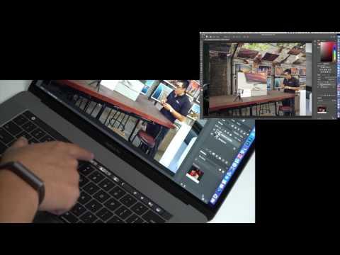 Thử chỉnh ảnh trên Photoshop bằng Touch Bar