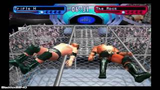 WWF Smackdown! 2: Know Your Role - Triple H vs The Rock - Hell in a Cell Match