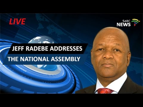 Jeff Radebe addresses the National Assembly