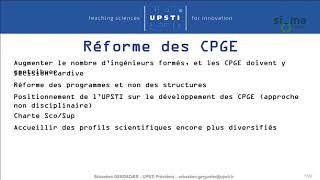 ICSTEng 2019 - 11 - La réforme du lycée et des CPGE - Sébastien GERGADIER