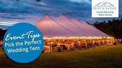 Tent Rental Styles for Weddings & Events