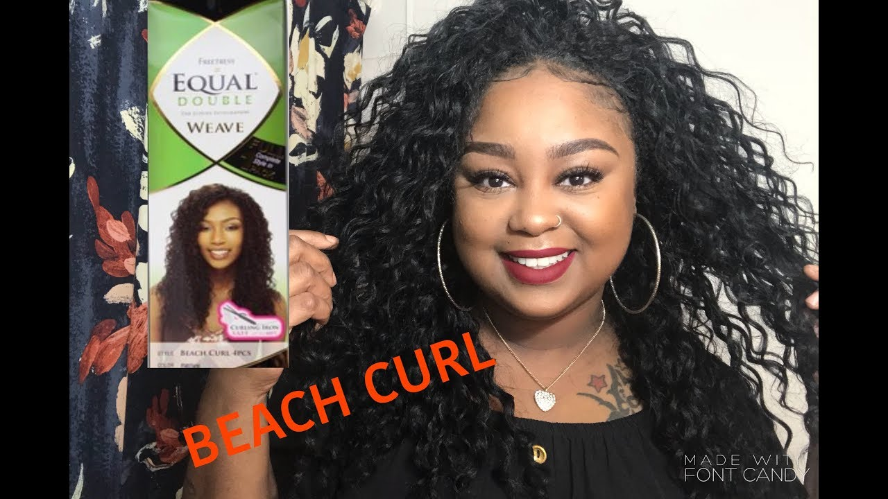 beauty supply hair: freetress equal double weave beach curl