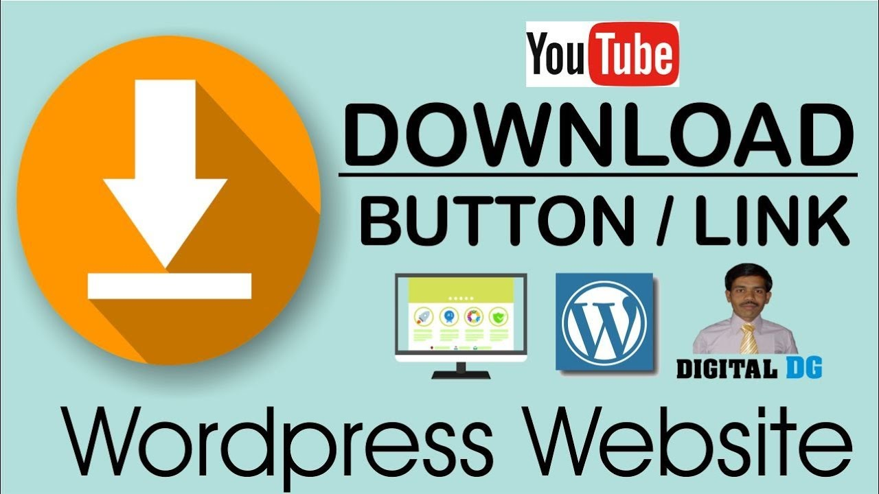 How to add download button on wordpress website | how to create download  link in wordpress