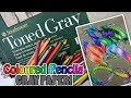 """Coloured Pencils on GRAY PAPER! - Drawing a """"Neon Space Dragon?"""""""