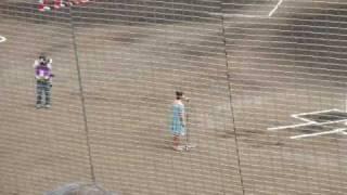 奈々(7bitz) 国歌独唱@佐藤池野球場 2009.5.30