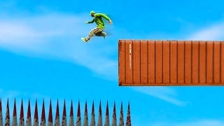 IMPOSSIBLE SKY HIGH DEATH JUMP! (GTA 5 FUNNY MOMENTS)