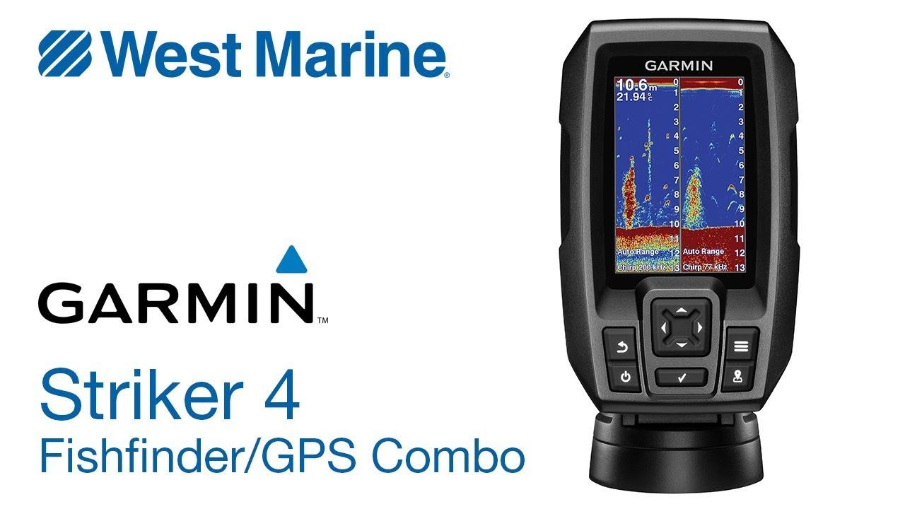 hight resolution of garmin striker 4 chirp fishfinder with gps west marine quick look
