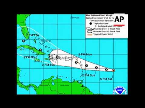 Netherland Antilles has issued a tropical storm watch for St. Maarten and two other nearby islands S