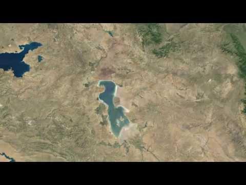 Drying of Lake Urmia, Iran(1984-2012) - Urmiye Gölünün Qurudulması