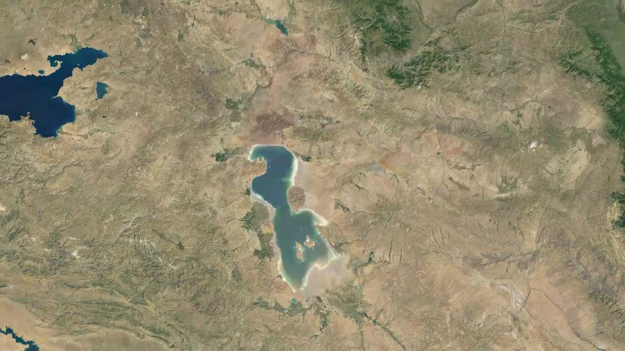 Drying of Lake Urmia Iran19842012 Urmiye Glnn Qurudulmas