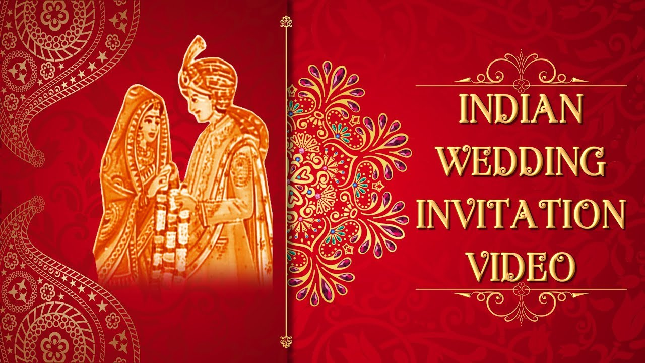 Indian Wedding Invitation Video Whatsapp Invitation Video Latest Wedding Templates Youtube