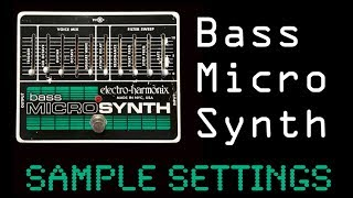 Micro Synth Sample Settings