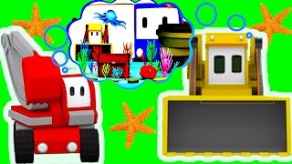 The Aquarium - Learn with Charlie the Crane, Billy the Bulldozer and  the Excavator - Tiny Trucks