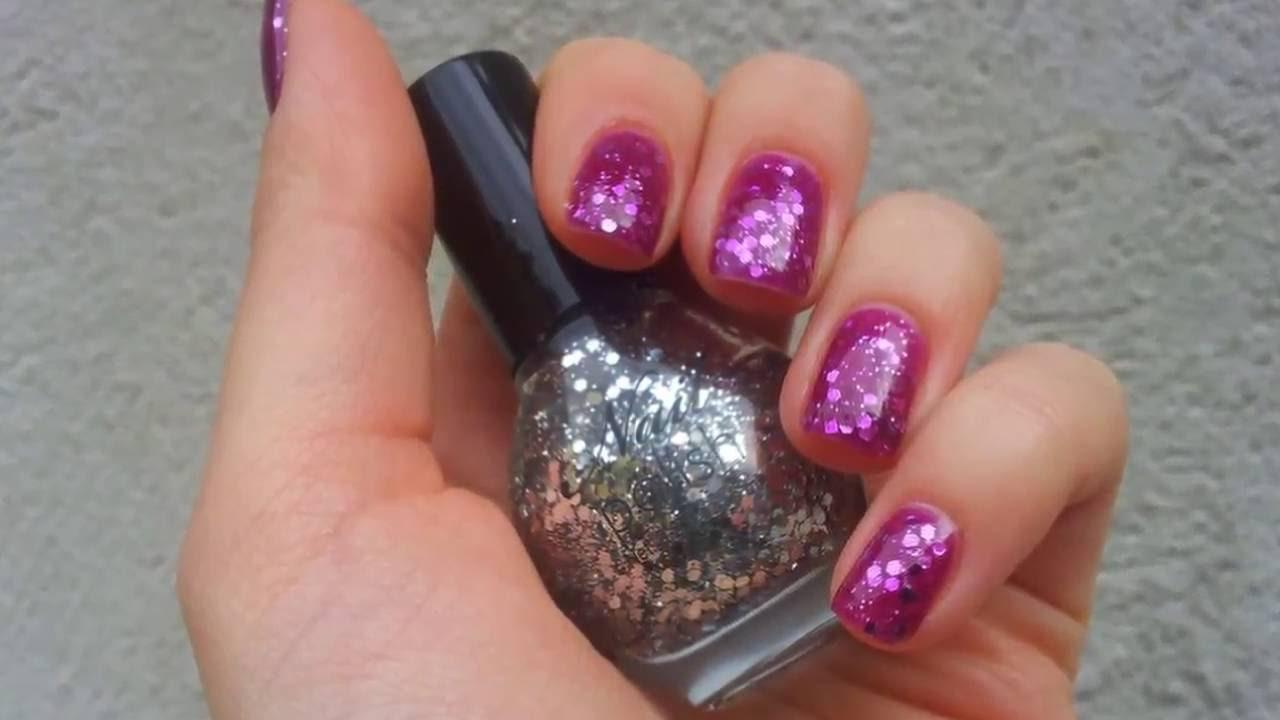 Nail Designs For Short Nails Glitter Polish