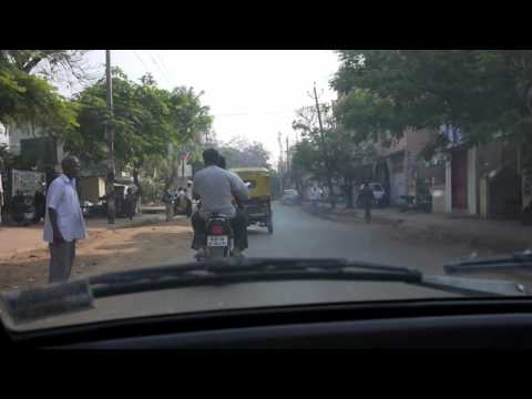 Driving in Bangalore (Behind ISRO Layout)