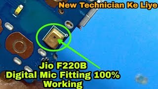 Jio LYF F220B install Digital Mic | Jio Phone Mic Solution