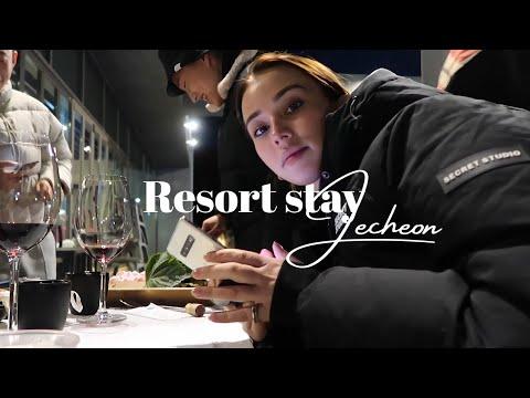 Alone with 4 Korean men - Luxury resort in Korea 🇰🇷