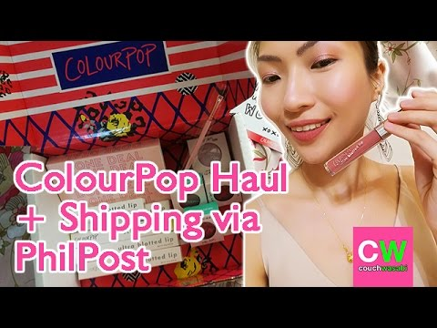 ColourPop Haul, Swatching, & First Impression ♥ Shipping to PhilPost Experience | couchwasabi