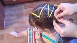 Прическа праздничная для девочек -
