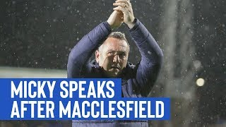 Post Match | Micky Mellon (Macclesfield Town)